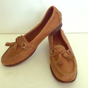 Enzo Angiolini caramel/beige leather loafers shoes